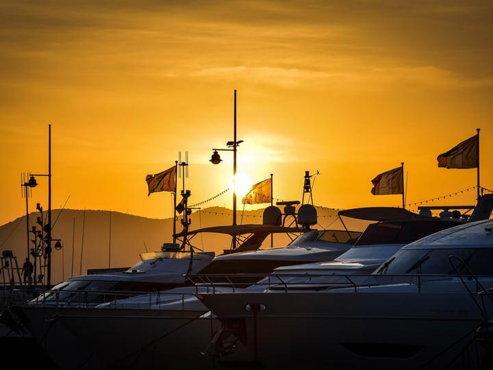 ibiza sunsets superyachts
